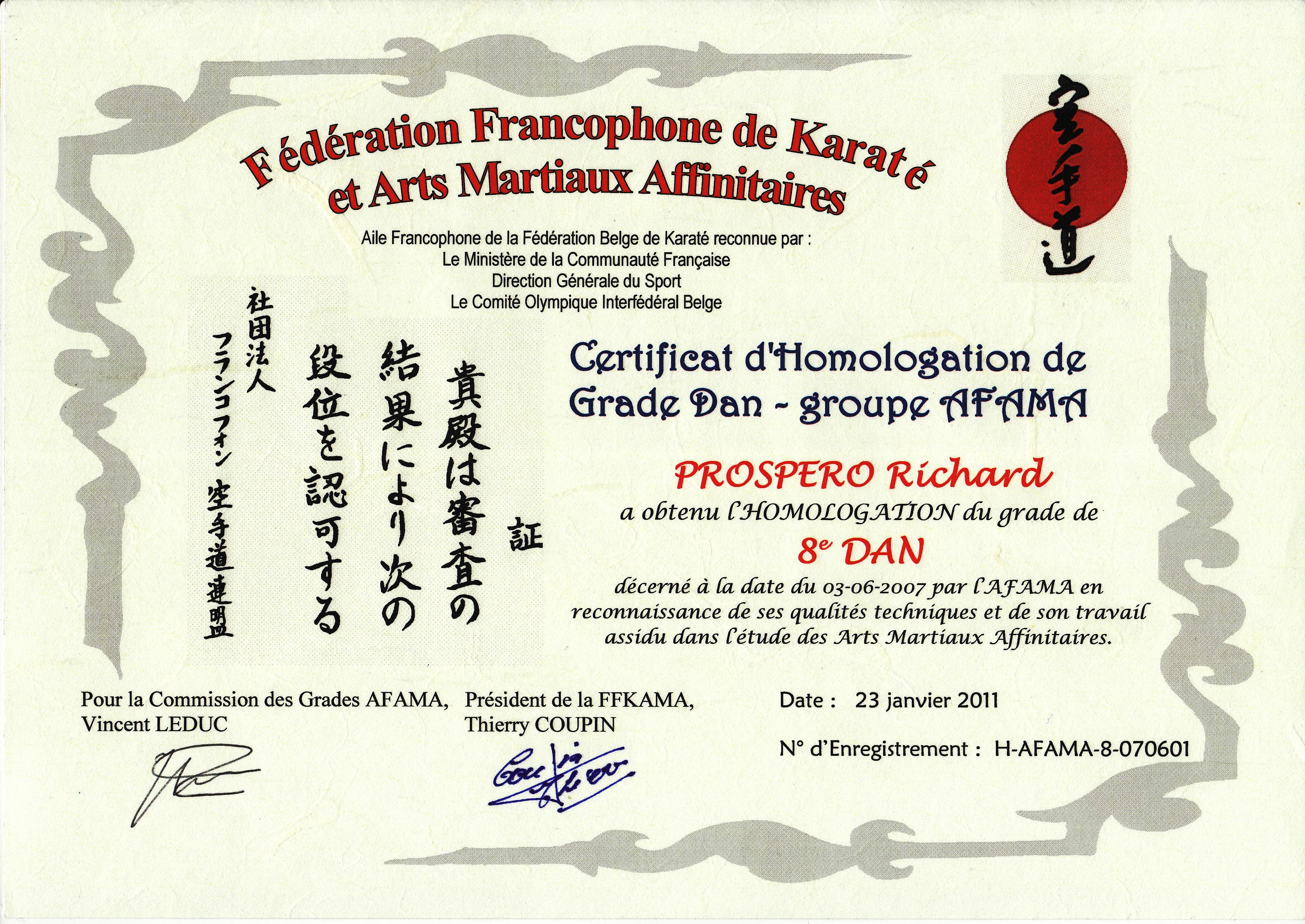 Grades association francophone d 39 arts martiaux affinitaires for Arts martiaux pdf